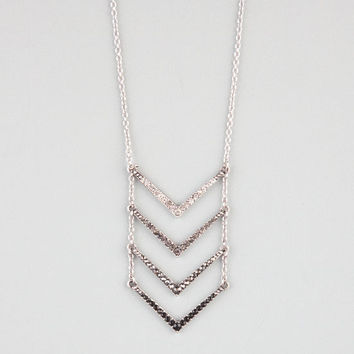 Full Tilt 4 Tier Rhinestone Arrow Necklace Silver One Size For Women 23961414001
