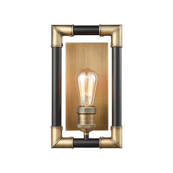 Lisbon 1 Wall Sconce Classic Brass/Oil Rubbed Bronze