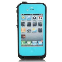 Viva OceanProof Waterproof Dustproof Snowproof Protection Case Cover For Apple iPhone 4 4S (Teal)