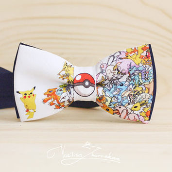 Pokemon Bow tie - Bowtie Poke Ball Pokemon GO Pikachu