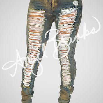 Sparkle and Shred (Metallic Denim)