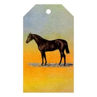 Brown Horse Gift Tags