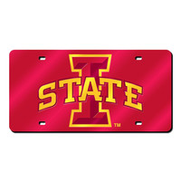 Iowa State Cyclones NCAA Laser Cut License Plate Cover