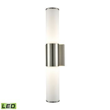 Maxfield 2-Light Wall Lamp in Satin Nickel with Opal Glass - Integrated LED