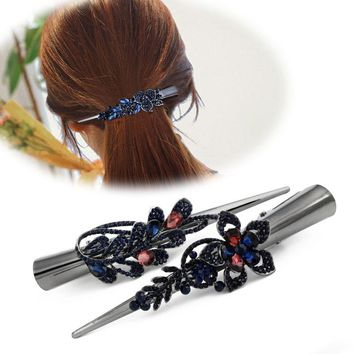 Variety Red Black Rhinestones Korean Hair Clips Horn Hairpins Headdress Hair Accessories for Women Girl Barrettes