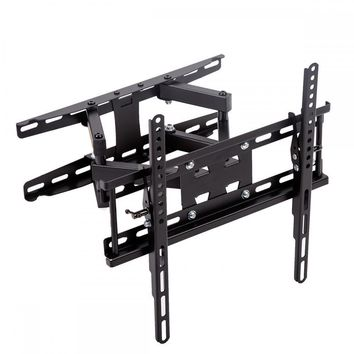 New Full Motion Tilt TV Wall Mount Bracket Dual Arm for 32-55'' LCD LED 265