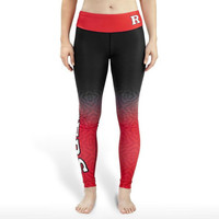 Rutgers Scarlet Knights Womens Official NCAA Gradient Print Leggings
