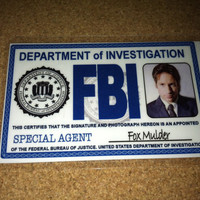 Fox Mulder XFiles employee ID Badge  Special Agent  by UncleJacks