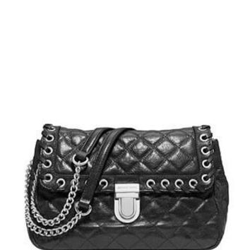 Michael Michael Kors Hippie Grommet Sloan Quilted Shoulder Bag