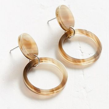 ZHUU Marble Circle Stud Earrings | Urban Outfitters