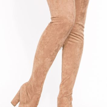 Camel Faux Suede Thigh High Platform Boots @ Cicihot Boots Catalog:women's winter boots,leather thigh high boots,black platform knee high boots,over the knee boots,Go Go boots,cowgirl boots,gladiator boots,womens dress boots,skirt boots.