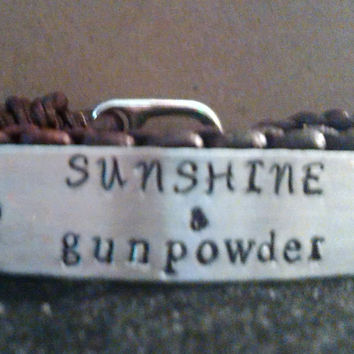 Sunshine and Gunpowder leather bracelet 2