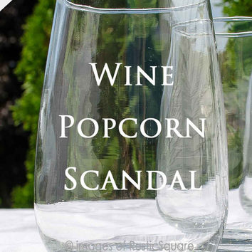 "Scandal Wine Glass, ""Consider It Handled"" Glass, Scandal Wine Glass, Personalized Gift, Olivia Pope, Scandal Gift, Its Handled, shut it down"