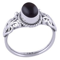 Sterling Silver & Black Onyx Midnight Ring