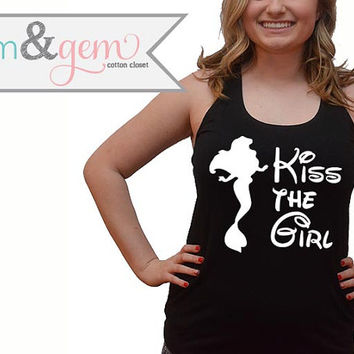 "Disney's The Little Mermaid Shirt // ""Kiss the Girl"" Shirt, Tank, Sweats // Princess Ariel Shirt // Disney World Shirt // Disney Movie Shirt"