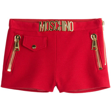 Moschino - Embellished Cotton Piqué Shorts