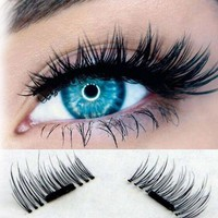 3D Magnetic Eyelashes Natural Beauty No Glue Reusable Magnet Fake Eye Lashes Extension Handmade Strip Lashes 4Pcs/Set