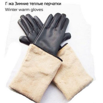 2016 winter women's fashion long gloves warm gloves with fur gloves
