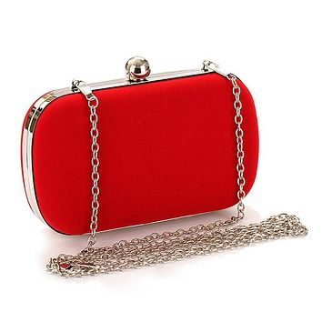 Trend Cheap Flannel Evening Bag Wedding Bride Clutch Prom Fashion Handbag Popular
