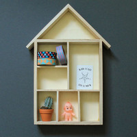 House Shaped Knick Knack Shelves