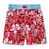 Baby Boys' Hawiian Swim Trunks - Red