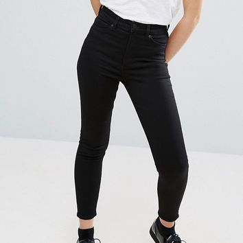 Monki Oki Cropped Skinny High Waisted Jeans at asos.com