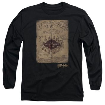 Harry Potter - Marauder's Map Long Sleeve Adult 18/1 Officially Licensed Shirt