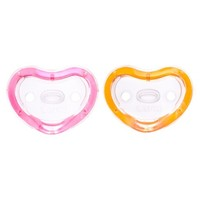 Munchkin LATCH™ 2pk Orthodontic Pacifier, 3+ Months - Pink/Orange