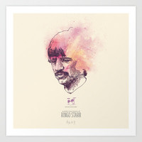 Charting the Beatles - Ringo Starr Art Print by Oliver Oliver Oliver
