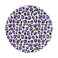 Purple Leopard Spots Animal Print Pattern Girls Paper Plate