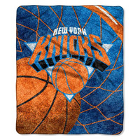 New York Knicks NBA Sherpa Throw (Reflect Series) (50x60)