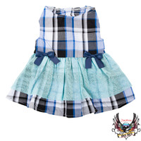 Bret Michaels Pets Rock™ Plaid & Bows Dress | Dresses | PetSmart