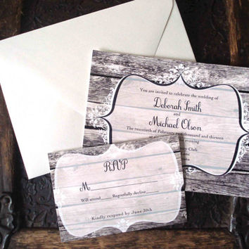 Wedding invitation and RSVP card suite. Professionally Printed, envelopes included.