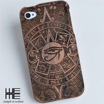 Custom wood iphone 4/4s, 5/5s, 5c, iphone 6 / 6 plus case, wooden samsung galaxy s4, S5, Note 3 case, engraved horus eye, unique gift