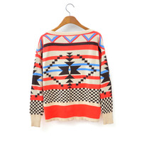 Retro sweater pullover