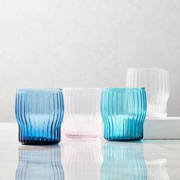 Ribbed Glassware (Set Of 4)