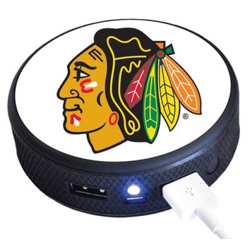 Chicago Blackhawks Puck Remote Cell Phone Charger