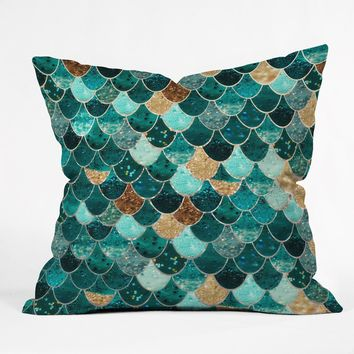 Monika Strigel Really Mermaid Throw Pillow | Deny Designs