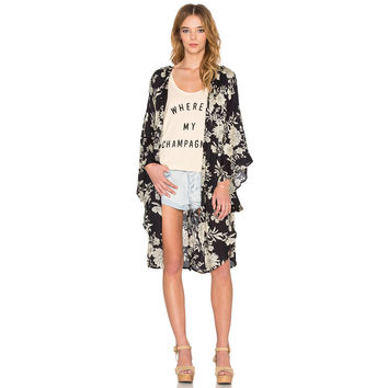 Fashion Women Boho Floral Printed Loose Long Kimono Cardigan  SN9