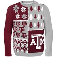 Texas A&M Aggies Busy Block Ugly Sweater
