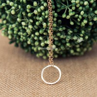 Minimalist Karma Circle Necklace - Rose Gold, Gold and Silver