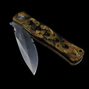 Fall Camouflage Folding Knife