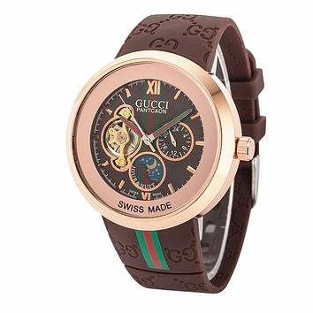 GUCCI Ladies Men Watch Little Ltaly Stylish Watch F-PS-XSDZBSH  brown,