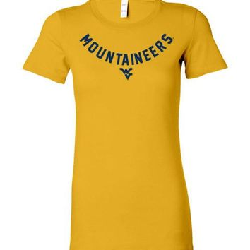 Official NCAA West Virginia University Mountaineers Hail WVU Ladies Favorite Tee - 58C-WV
