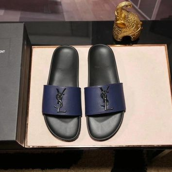 YSL Men Men's slippers shoes sandals