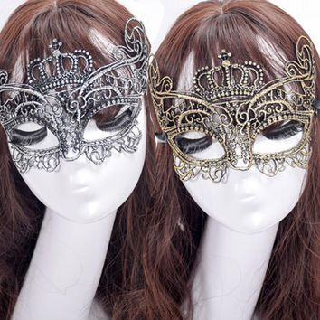 Metal Masquerade Masks Elegant Metal Laser Cut Luxury Mask Black