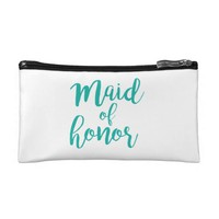 Maid of honor personalized gift makeup bag