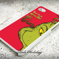 You 're a mean one mr grinch - Print on hard plastic - iphone case - iphone 4 case - iphone 4/s case - iphone 5 case - samsung case - iphone