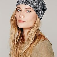 Free People Womens Marled Lightweight Slouchy Beanie