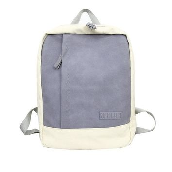 University College Backpack Contrast Color Canvas women  for Girls Teenagers  Wind School Bags Back pack Female Sweet Bagpack Sac A Dos FemmAT_63_4